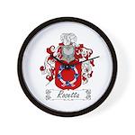Rosetta Family Crest Wall Clock
