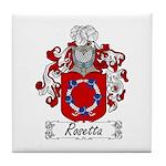 Rosetta Family Crest Tile Coaster