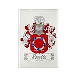 Rosetta Family Crest Rectangle Magnet