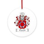 Rosetta Family Crest Ornament (Round)