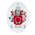 Rosetta Family Crest Oval Ornament