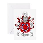 Rosetta Family Crest Greeting Cards (Pk of 10)