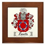 Rosetta Family Crest Framed Tile