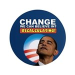 "Recalculating Obama 3.5"" Button (100 pack)"
