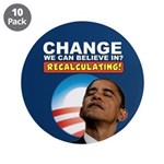 "Recalculating Obama 3.5"" Button (10 pack)"