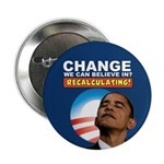 "Recalculating Obama 2.25"" Button (100 pack)"