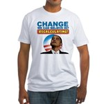 Recalculating Obama Fitted T-Shirt