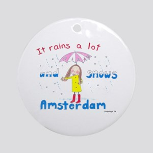 Rains and Snows Ornament (Round)