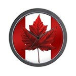 Canada Souvenir Clock Flag Autumn Maple Leaf