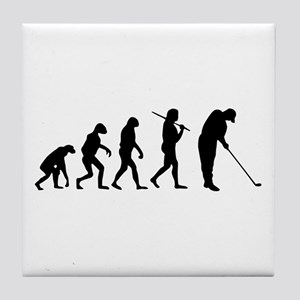 The Evolution Of The Golfer Tile Coaster
