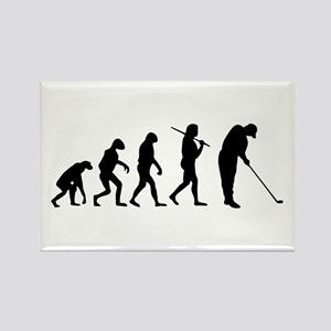The Evolution Of The Golfer Rectangle Magnet