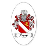 Ronzoni Coat of Arms Oval Sticker