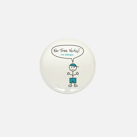 Tree Nut Allergy - Boys - Mini Button