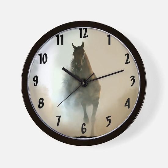 Misty Horse Wall Clock