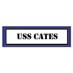 USS Cates Sticker (Bumper)