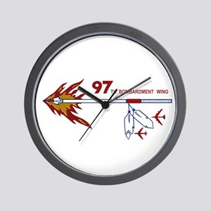 Flaming Spear Wall Clock