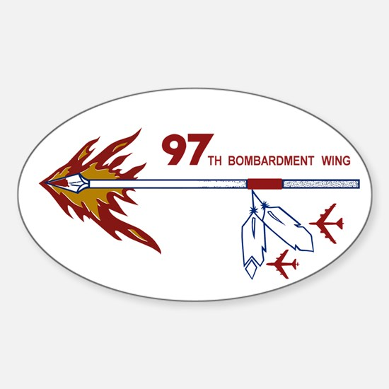 Flaming Spear Sticker (Oval)