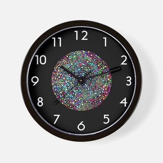 <b>SERIES G:</b> Spinning Stars Retro Wall Clock