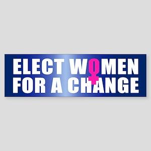 ELECT WOMEN Bumper Sticker