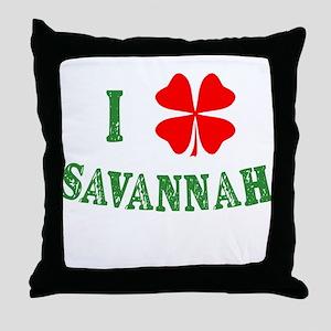 I Heart Savannah Throw Pillow