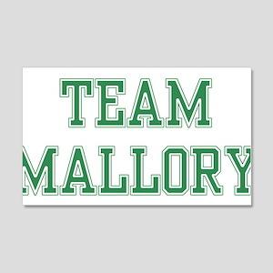 TEAM MALLORY 22x14 Wall Peel