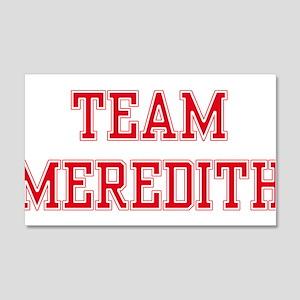 TEAM MEREDITH 22x14 Wall Peel