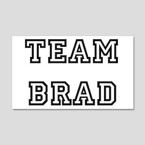 TEAM BRAD T-SHIRTS 22x14 Wall Peel