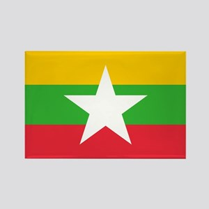 Burma Flag Rectangle Magnet