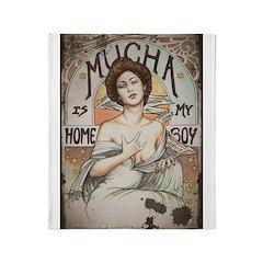 Vintage Mucha Throw Blanket