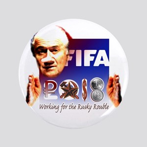 """World Cup 2018 Rusky Rouble 3.5"""" Button"""