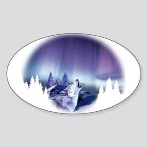 Winter Wolf Sticker (Oval)