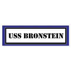 USS Bronstein Sticker (Bumper)