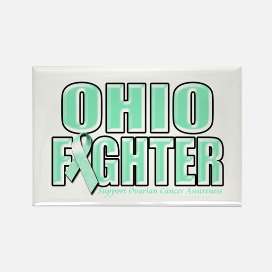 Ohio Ovarian Cancer Fighter Rectangle Magnet