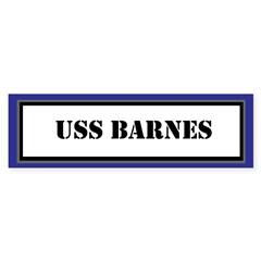 USS Barnes Sticker (Bumper)