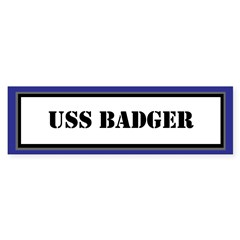USS Badger Sticker (Bumper)
