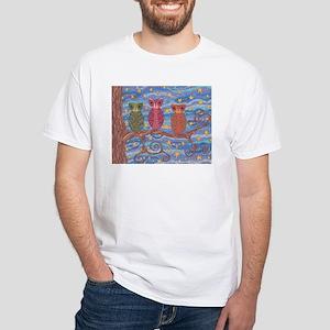 Night Rainbow White T-Shirt