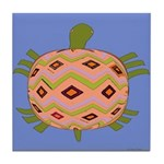 Abstract Turtle Art Tile Coaster