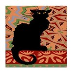 Chat Noir Art Tile Coaster