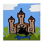 New Orleans Dachshund FQ Tile Coaster