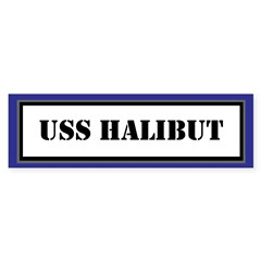 USS Halibut Sticker (Bumper)