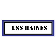USS Haines Sticker (Bumper)