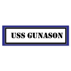 USS Gunason Sticker (Bumper)