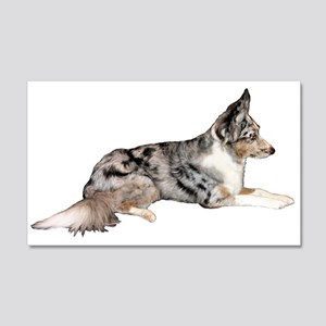Blue Merle 22x14 Wall Peel
