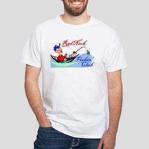 Rednck Fishin Club White T-Shirt