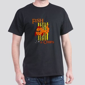 Fish and Chips - Band Dark T-Shirt