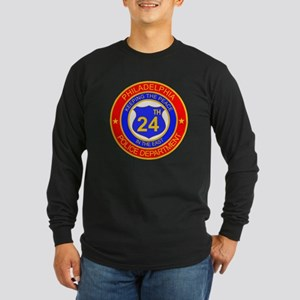 Philadelphia Police 24th Dist Long Sleeve Dark T-S