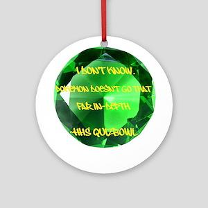 HHS QB Ornament (Round)