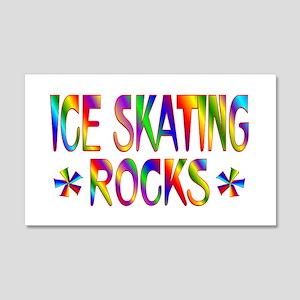 Ice Skating 22x14 Wall Peel