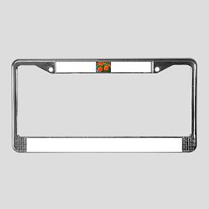 FIsh Eye Marigolds License Plate Frame
