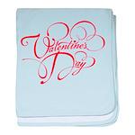 Valentines Day baby blanket